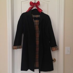 RaRe Black BURBERRY Trench coat Nova-check lining